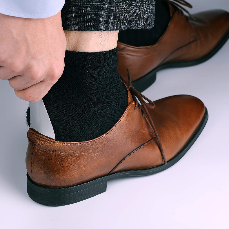 Facile da usare perfetto per Viaggiare Adatto a tutte le misure di piede Accessori di Gentleman Classic GAINWELL 3 Pacchi Metallo Calzascarpe Calzascarpe in acciaio inox