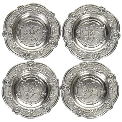 Darice 2302-05 4 Piece Timeless Miniature Fancy Pewter Dishes: Arts, Crafts & Sewing