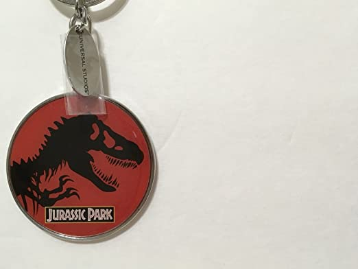 Universal Studios Exclusive Jurassic World Outlined T-Rex Metal Keychain New