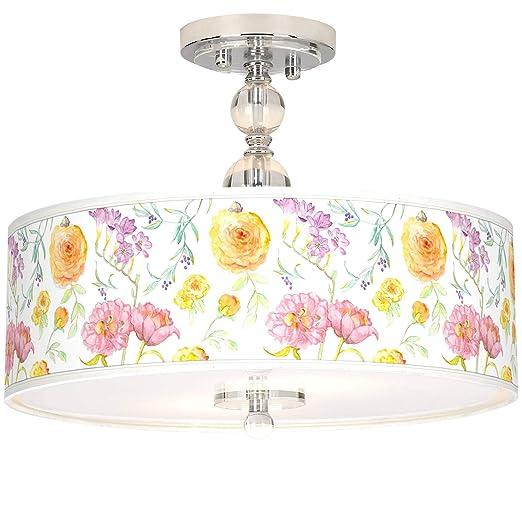 Amazon.com: Spring Garden Giclee - Lámpara de techo semi ...