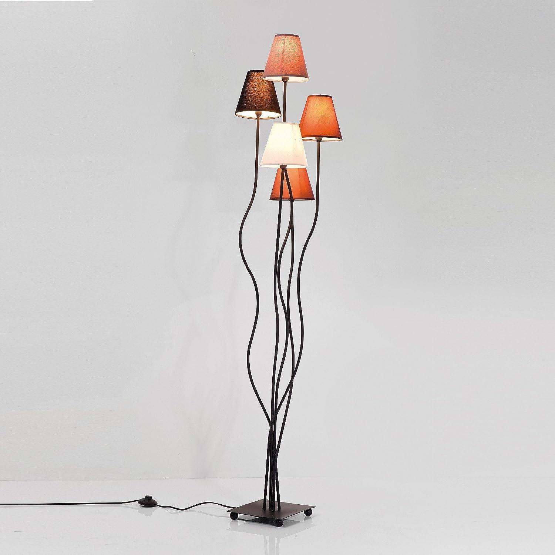 """EINZIGARTIGE LOUNGE STEHLAMPE """"QUINTETT"""" 5er Lampe 163 cm"""