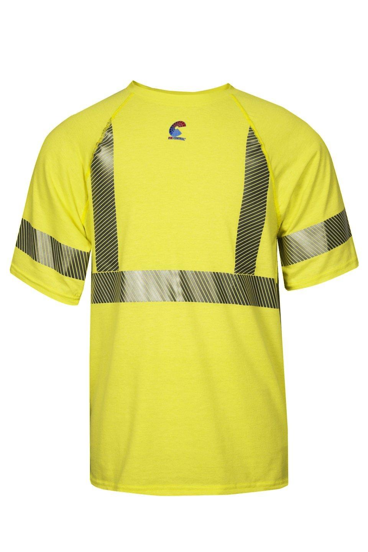 X-Large Class 2 National Safety Apparel BSTJTRC2XL  FR Control 2.0 T-Shirt Fluorescent Yellow