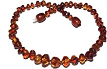 Adult Brandy Snap Cognac Baltic Amber Necklace Love Amber x UK