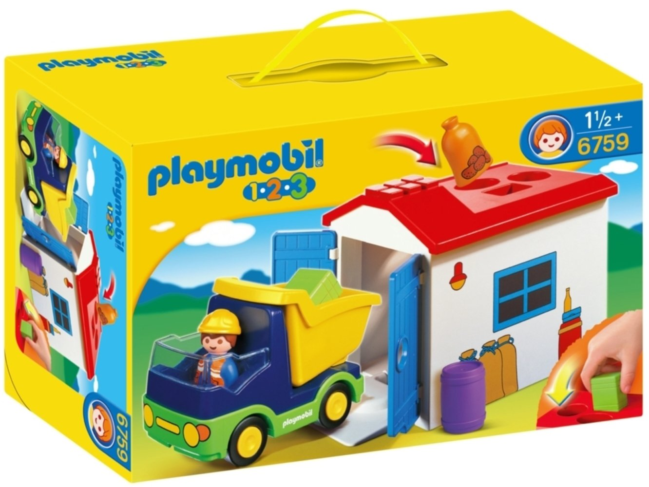 Amazon Com Playmobil 1 2 3 Truck With Garage Toys Games