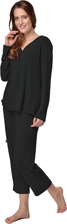 Pigiama Sleepwear per Tutte Le Stagioni Camicia da Notte RAIKOU Moda Italiana Donna Pigiama a Maniche Lunghe