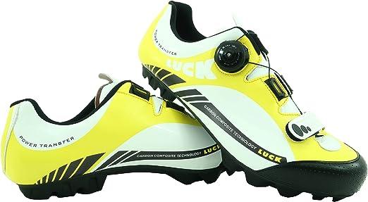 LUCK Zapatillas de Ciclismo Pro 0.17 MTB, con Suela de Carbono de ...