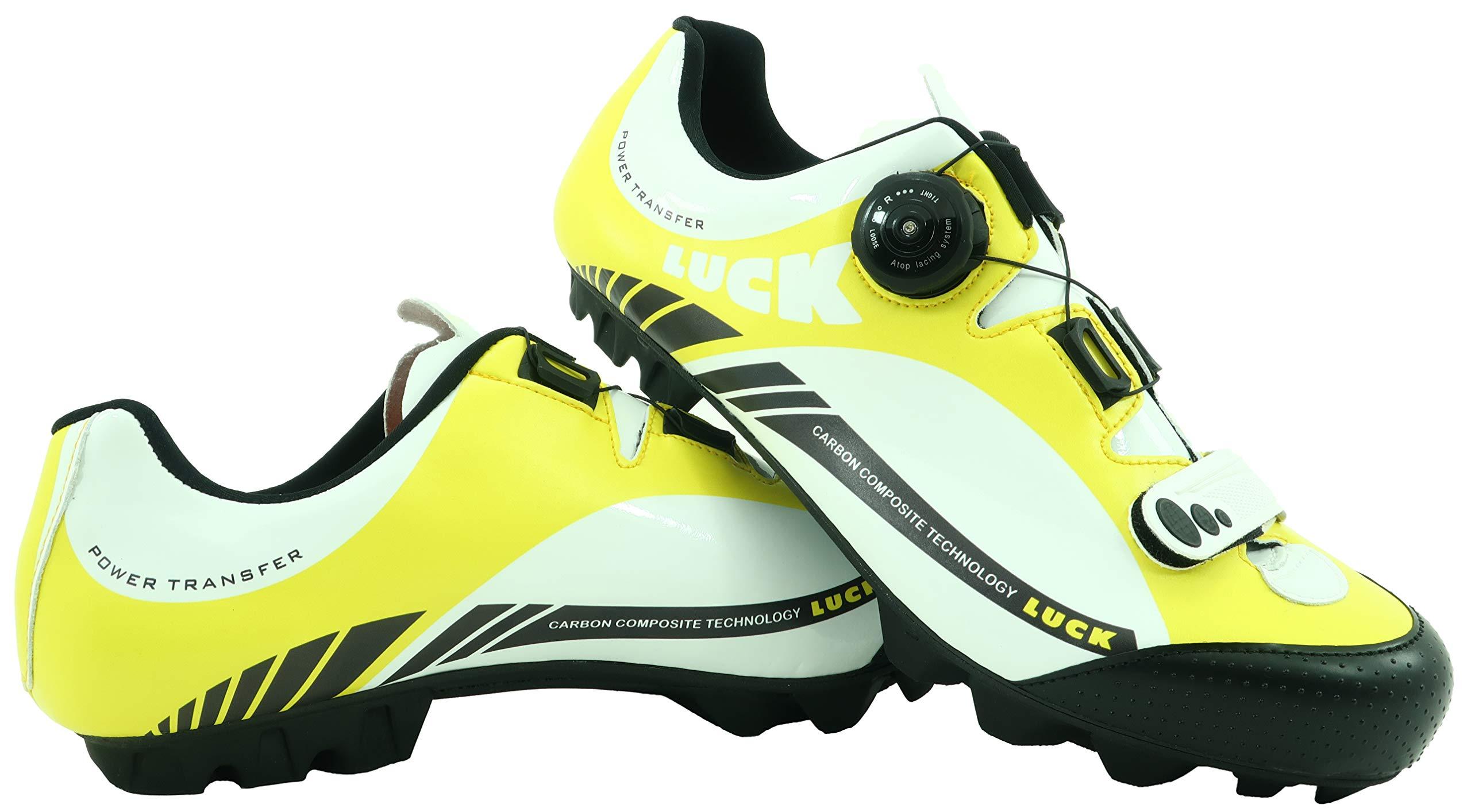 LUCK Zapatillas de Ciclismo Pro 0.17 MTB, con Suela de Carbono de 4mm y Cierre