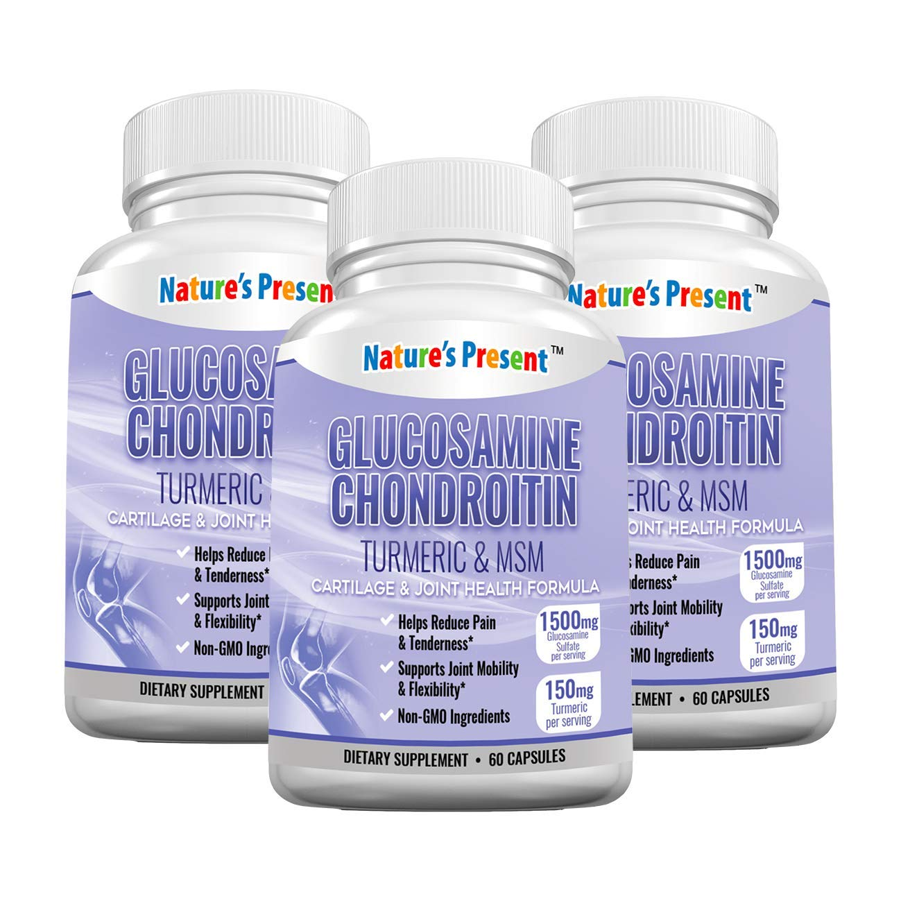 Glucosamine Chondroitin with Turmeric & MSM & Boswellia -Premium Cartilage & Joint Health Supplement for Joint Mobility, Pain Relief & Anti-Inflammatory, GMP Certificated, 180 Capsules