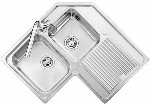 Lavello ad angolo acciaio inox satinato PLADOS VINTAGE 8320 ...