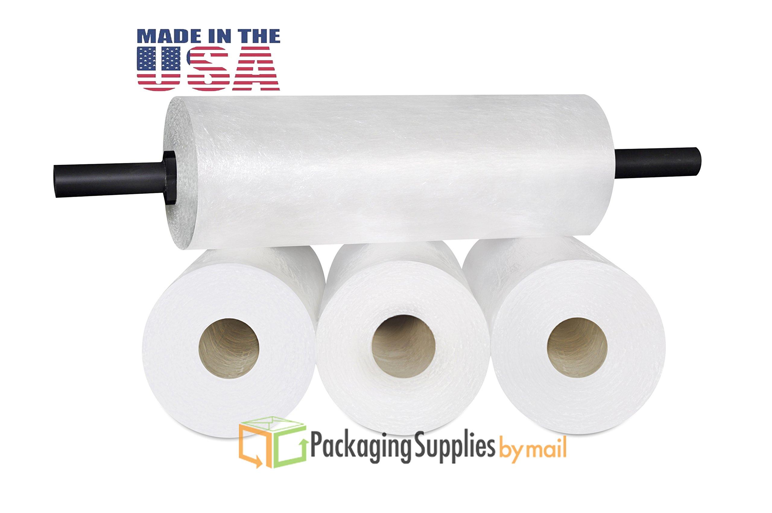 Stretch Film Wrap, Coreless Shrink Wrap Roll, Clear, 18 Inch x 2000 Feet, 8 Pack by PackagingSuppliesByMail