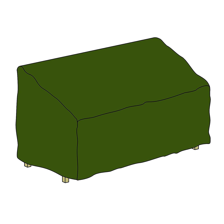 Nexos Schutzhülle für Gartenbank Abdeckhaube Abdeckplane 150 x 62 x 90 cm aus Polyester wasserdicht grün Nexos Trading