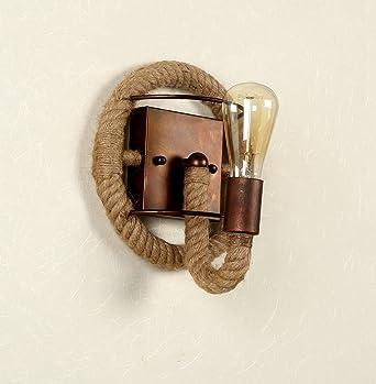 wenseny retro rstico sencillez lmpara de pared cuerda de camo iluminacin no incluya la fuente