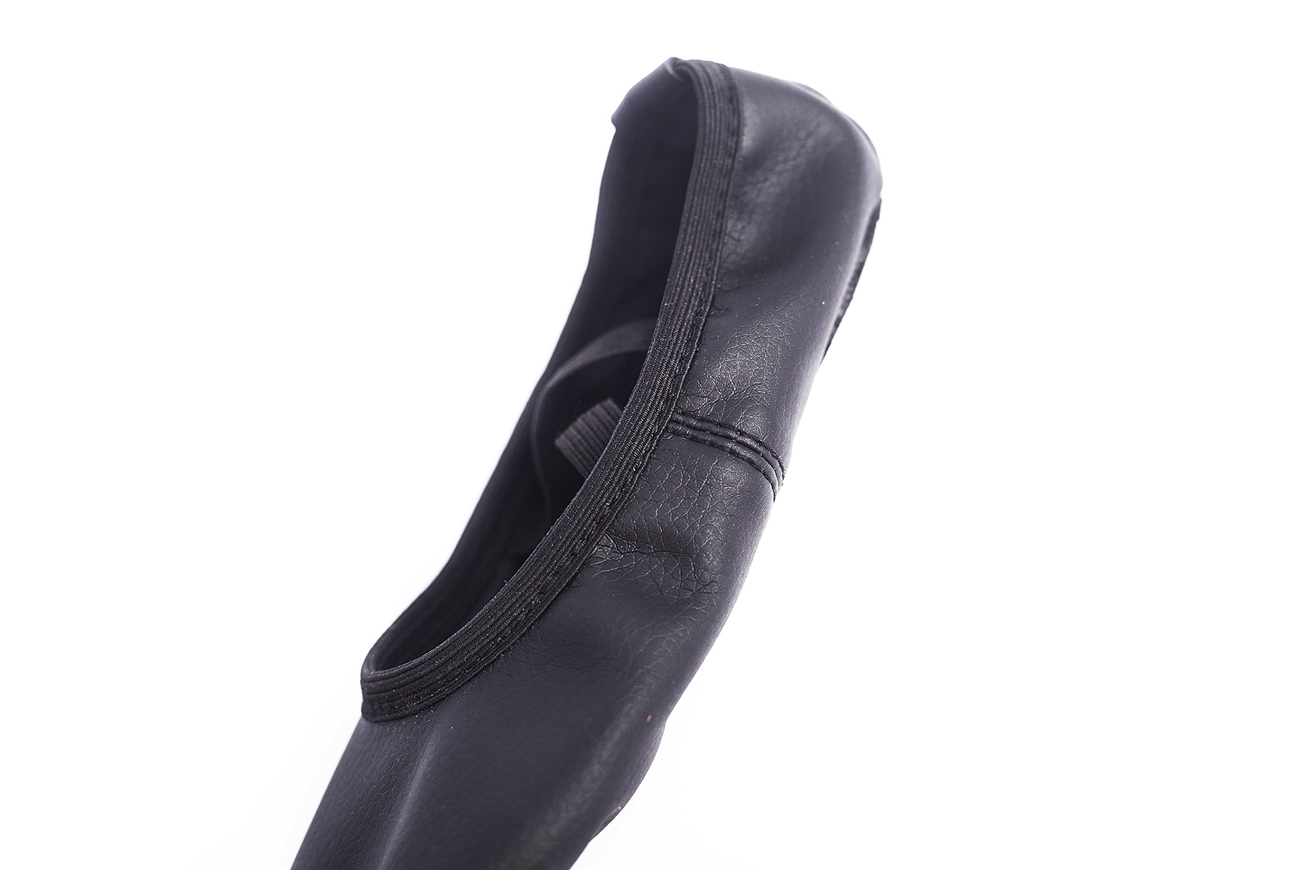 FERMAID Leather Ballet Dance Shoes Girls Pointe Shoes Slippers Flats Yoga Shoe(Toddler/Little Kid/Big Kid/Women) (215, Black) by FERMAID (Image #5)