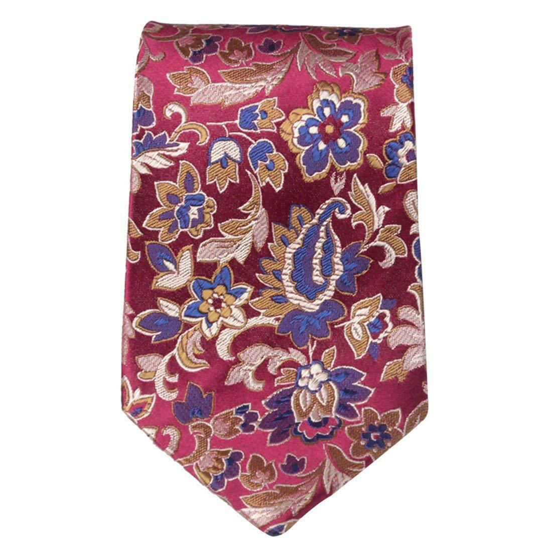 BAIJJ Corbata de Bordado de 9 cm de Color Rojo Vino de Flores ...