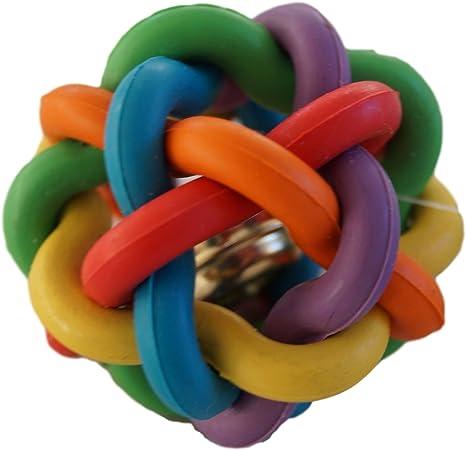 C.S. Doge World 039 nodos pelota de goma con cascabeles 45 mm ...