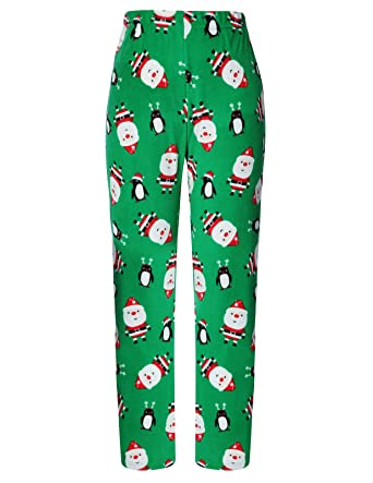 1f0849fd6f9 Women s Warm Cotton Long Pant Luxurious Snowflake Wide Legged Green Small