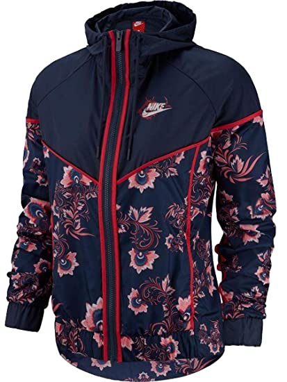 2693be3f4895a Nike Womens W NSW WR Jacket AOP Floral 922188: Amazon.co.uk: Clothing