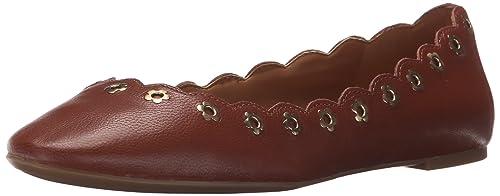 Nine West Women's Mintchip Flats, Dark Natural Leather, ...