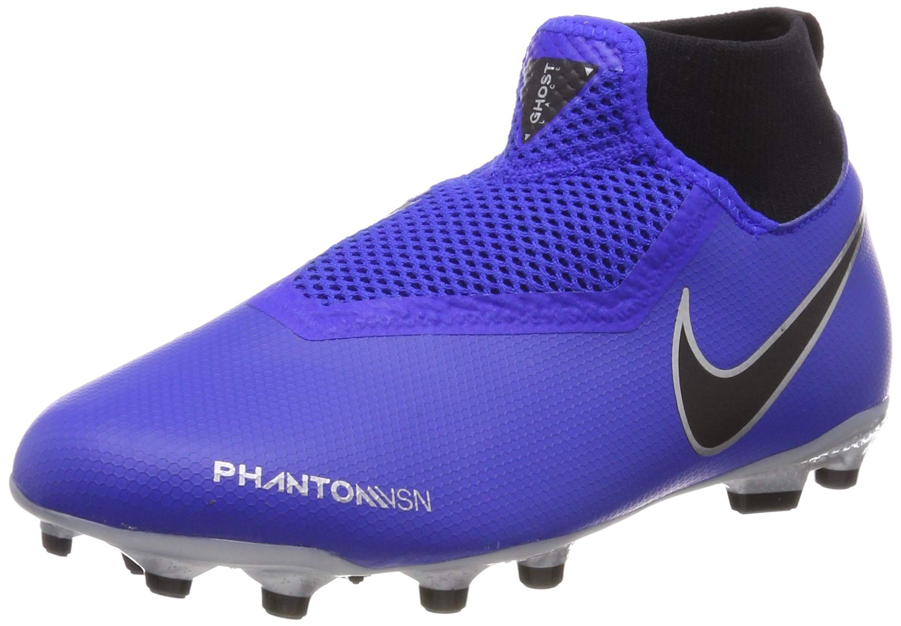 Nike Youth Soccer Jr. Phantom Vision Academy Dynamic Fit MG Cleats (5 M US Big Kid) Blue