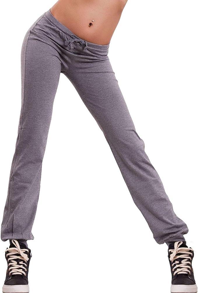 Pantajazz Elasticizzato Leggings Fitness Stretch Elastico Dance Coulisse In Vita