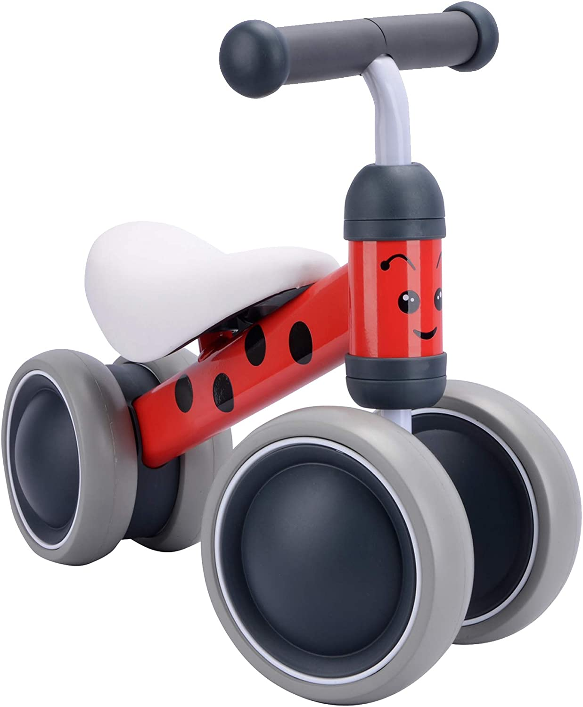 BOLDCUBE Bicicleta sin Pedales, Bici sin Pedales Niño, Juguetes Bebes 1 Año, Triciclos Bebes, Correpasillos Bebes 1 Año (Betty Mariquita)