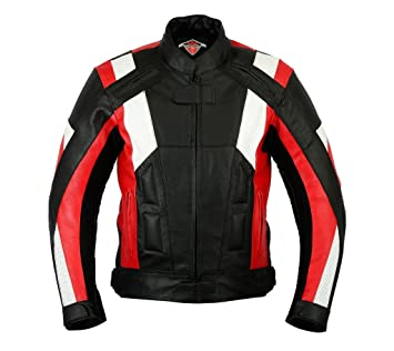 Gewachstes Leder Bikers Gear UK Trailmaster kastanienbraune Used Look by Motorradjacke