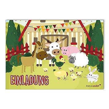 15 Bauernhof Einladungskarten I Dv 085 I Din A6 I Einladung Set