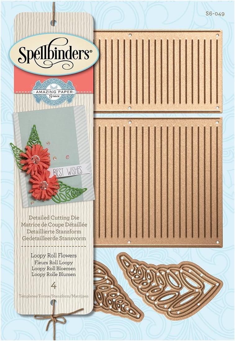 Spellbinders Shapeabilities Die ~ LOOPY ROLL FLOWERS ~ S6-049 ~ Amazing Paper