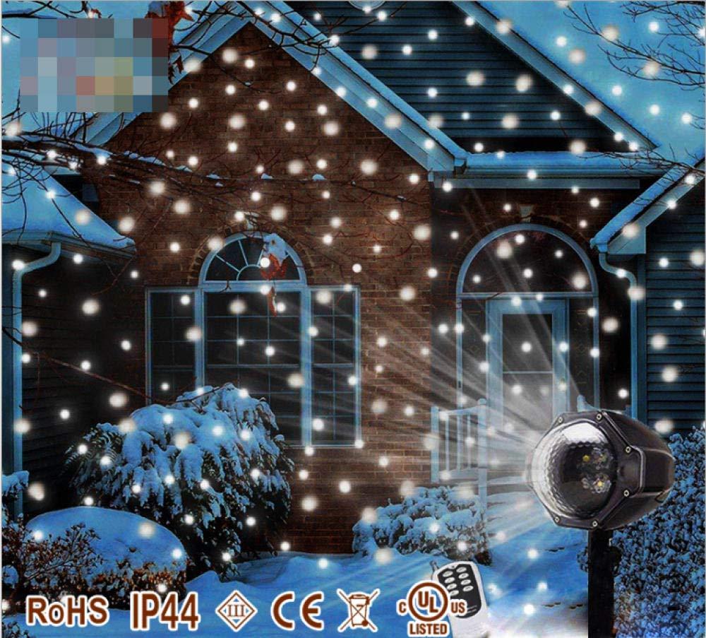 Pjlp Proyector Led De Navidad Mini Nevando Temporización Remota ...