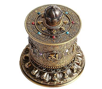 Amazon.com: Rueda de oración tibetana, rueda de oración ...