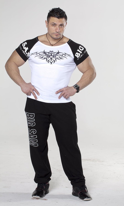 BIG SAM SPORTSWEAR COMPANY Bodybuilding Mens Stretch-Shirt T-Shirt Shirt 2667