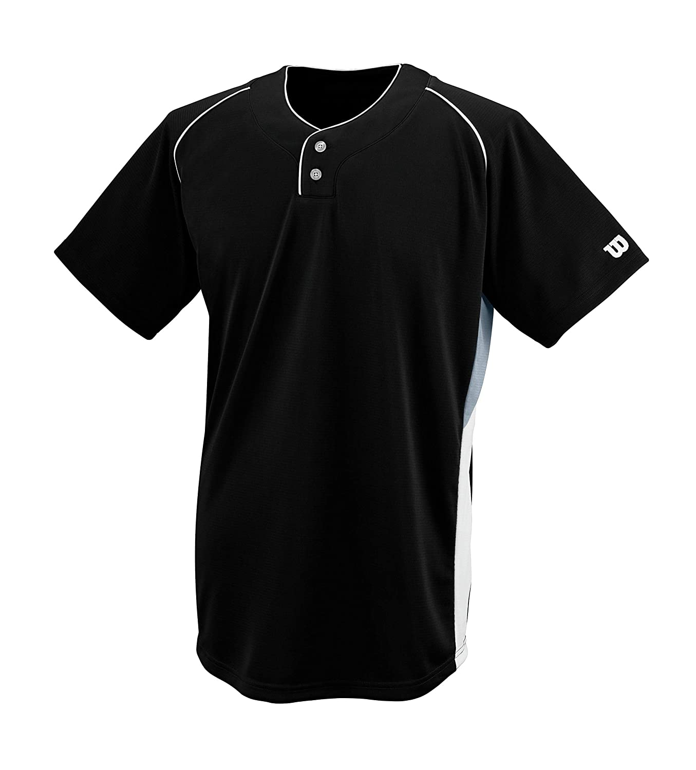 Black XXLarge Wilson Sporting Goods Double Bar Mesh 2Button Jersey Scarlet