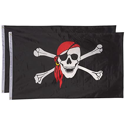 Amazon.com: – banderas – Pack de 2 banderas de pirata JOLLY ...