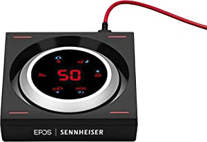 EPOS | SENNHEISER GSX 1200 PRO Gaming Audio Amplifier/External Sound Card, with 7.1 Surround Sound, Daisy Chain, Gaming DAC and EQ, Headphone amp Compatible with Windows, Mac, Laptops and Desktops.