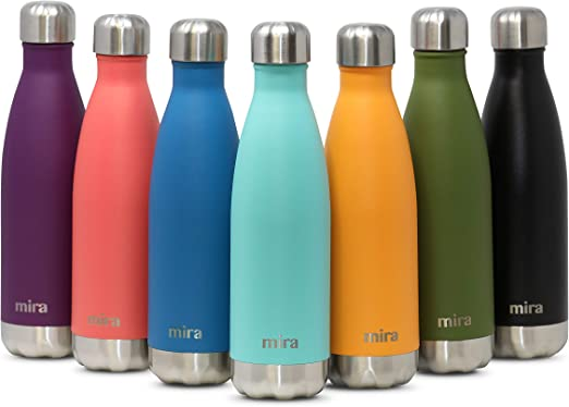 1L Stainless Steel Water Drink Bottle Insulated Double Wall Hot//Cold Cycling AU