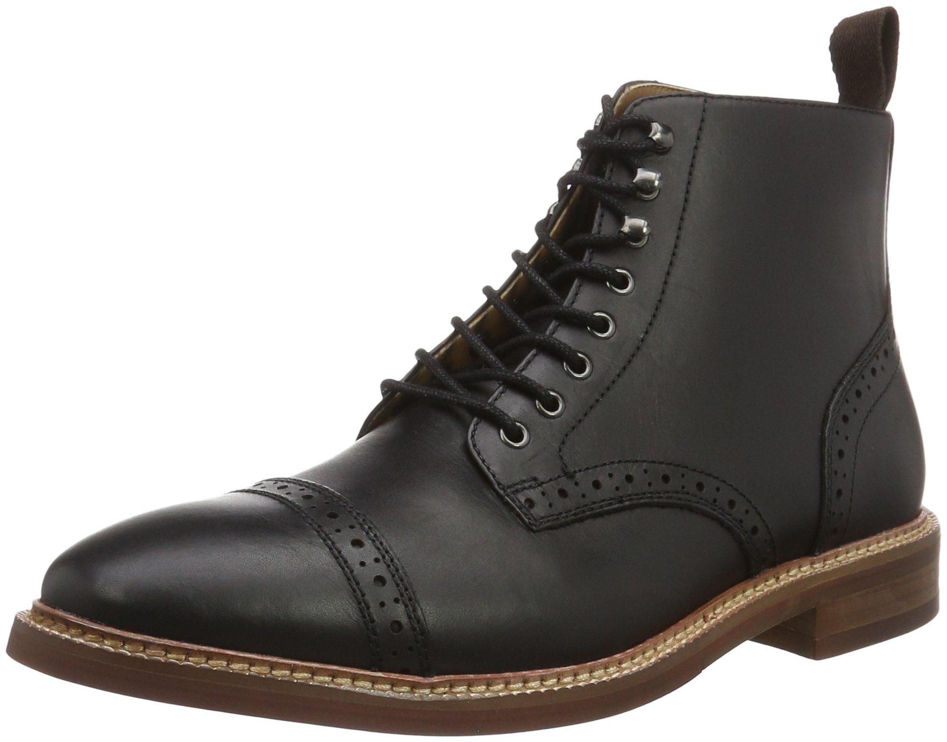 aldo s gwilawen ankle boots black black leather 8 uk