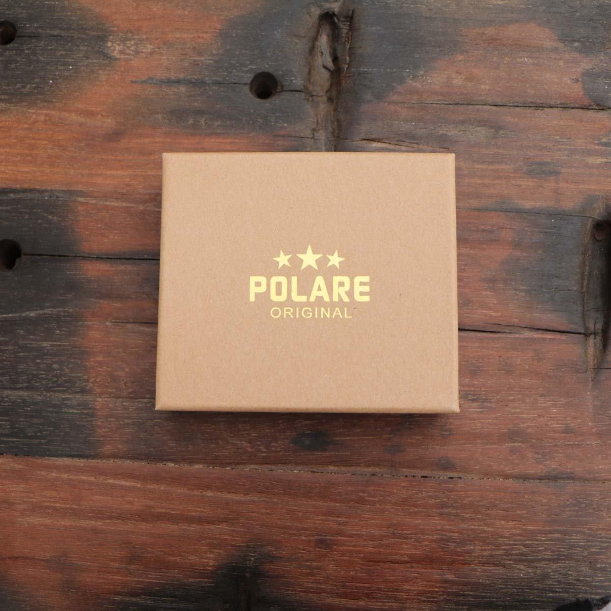 Polare Men's RFID Blocking Vintage Italian Genuine Leather Slim Bifold Wallet Handmade (Small Black)