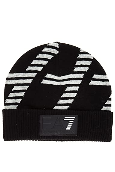 Emporio Armani EA7 men s beanie hat train graphic black UK size M 275643  7A725 00020 8f31b47cf25