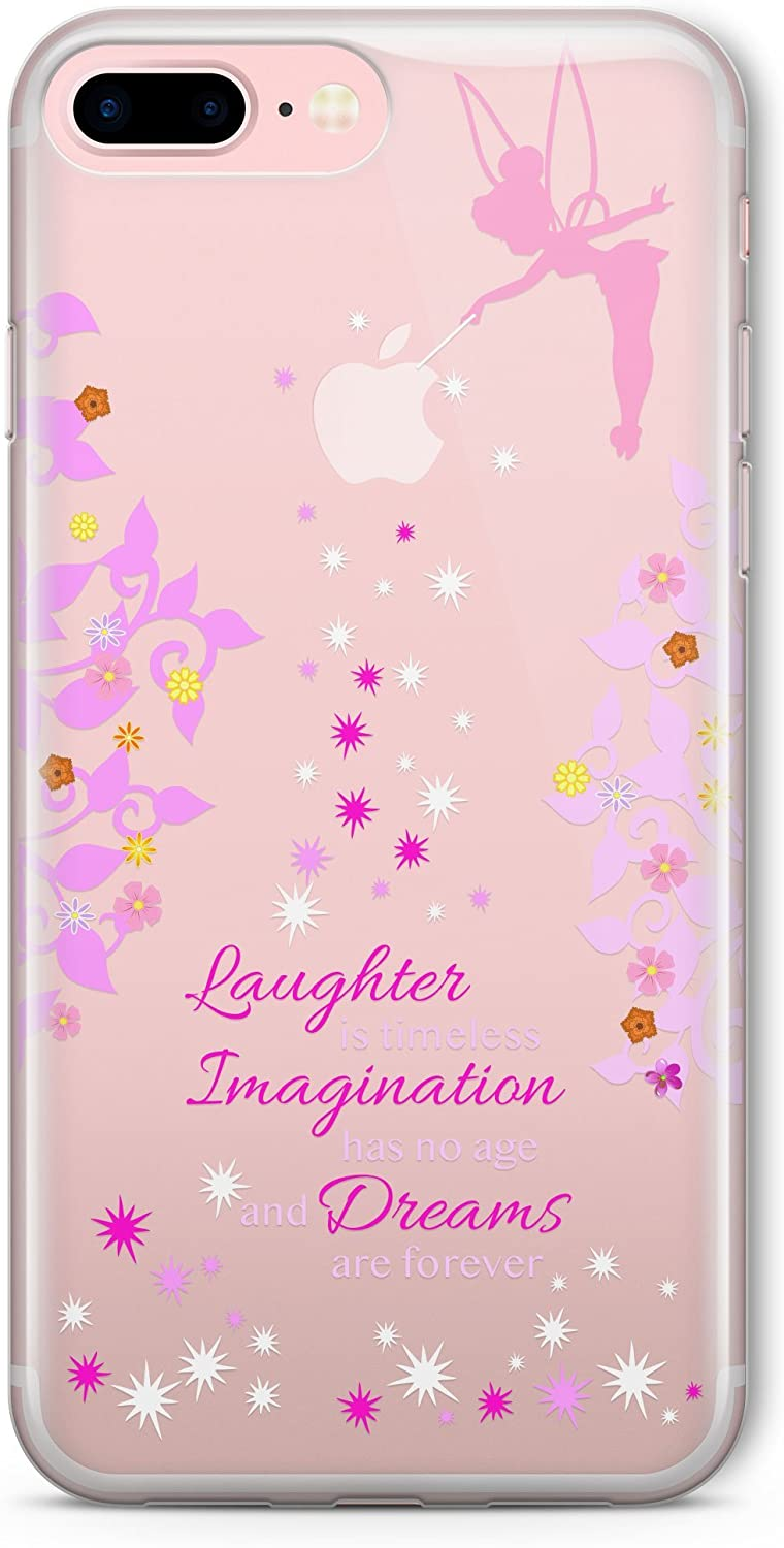 SmartGiftShop Cartoon Movie Character Fairy Quote Clear TPU Cover Case for iPhone Samsung iPhone 7 Plus
