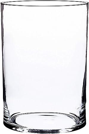 Cylindre Vase /à Fleurs 25cm INNA-Glas Lot 3 x Lanterne Roman Bougeoir en Verre /Ø10cm Rond Transparent