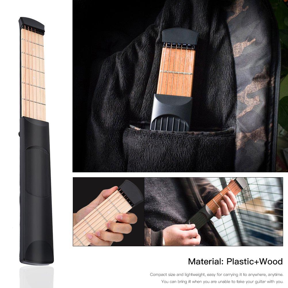 Pocket Guitar 6 Fret Left Hand Portable Pocket Guitar Practice Neck Guitar Acoustic Practice Tool Pocket Guitar Chord Trainer