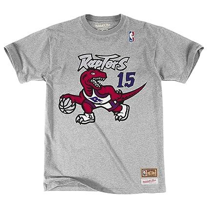 7954b196 Toronto Raptors Vince Carter Mitchell & Ness HWC Retro Name And Number Tee  (Medium)