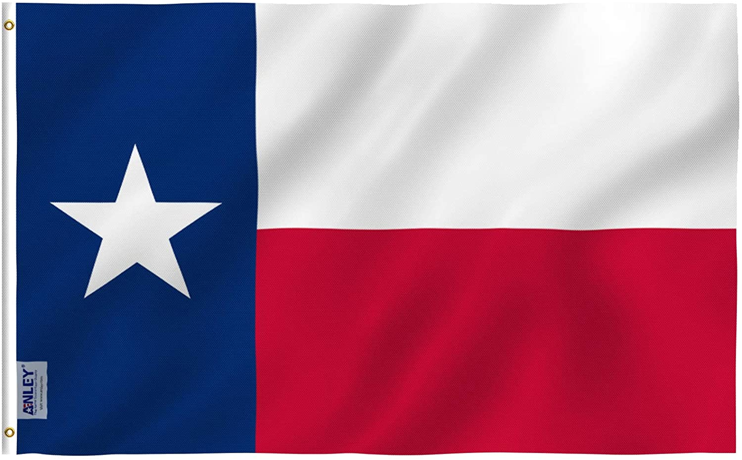 Anley Fly Breeze 3x5 Foot Texas State Flag - Vivid Color and UV Fade Resistant - Canvas Header and Double Stitched - Texas State Flags Polyester with Brass Grommets 3 X 5 Ft