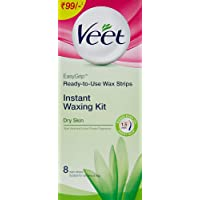 Veet Full Body Waxing Kit for Dry Skin - 8 Strips