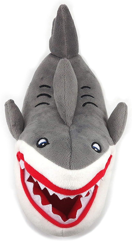 Wonder Nation Childrens Ankle Biter Shark Slippers Grey Size 4/5