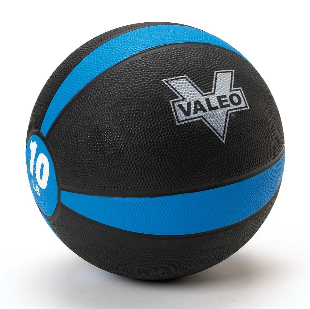 Valeo Medicine Ball With Sturdy Rubber Construction & Textured Finish