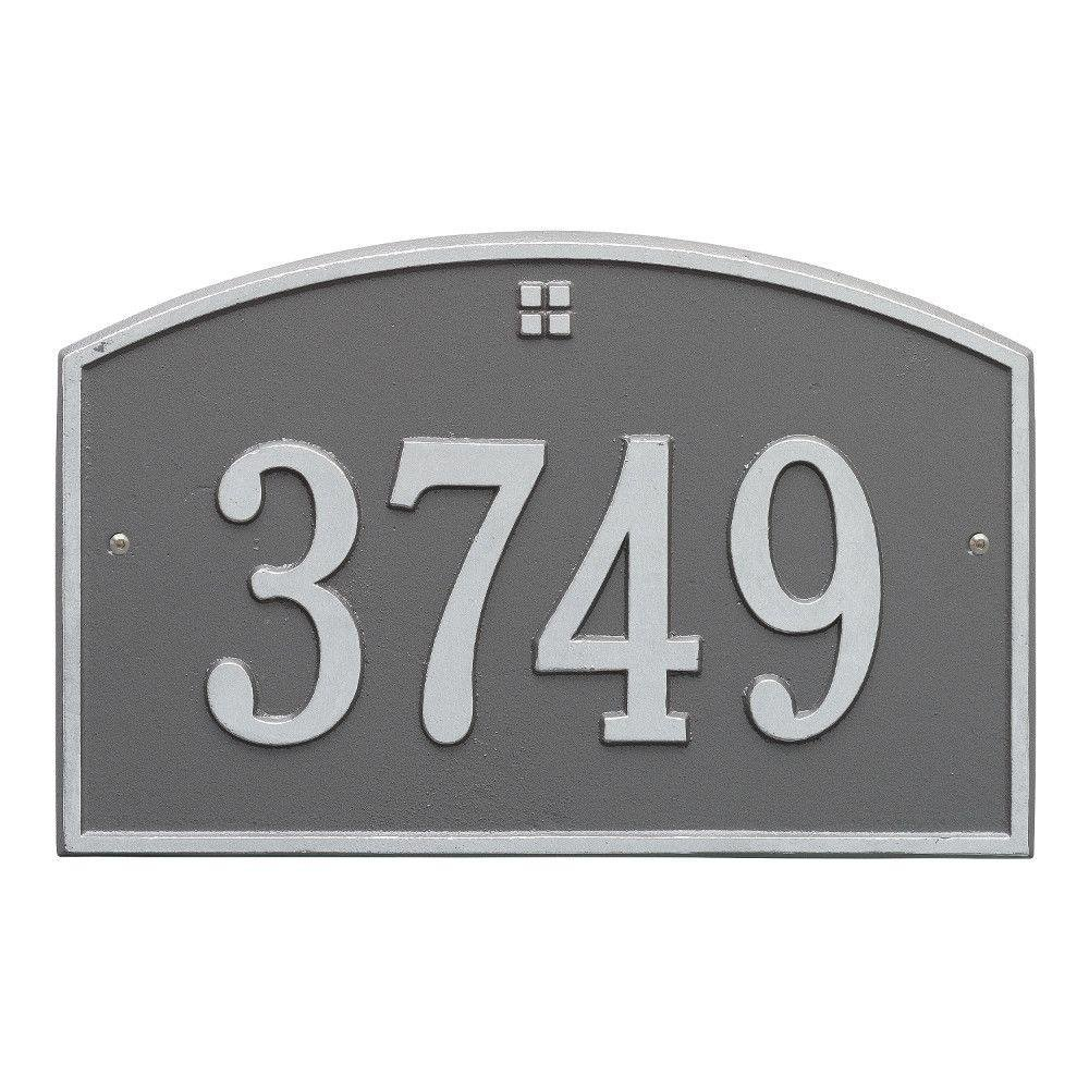 Whitehall Products Cape Charles Standard Aluminum Address Plaque CECOMINOD097196