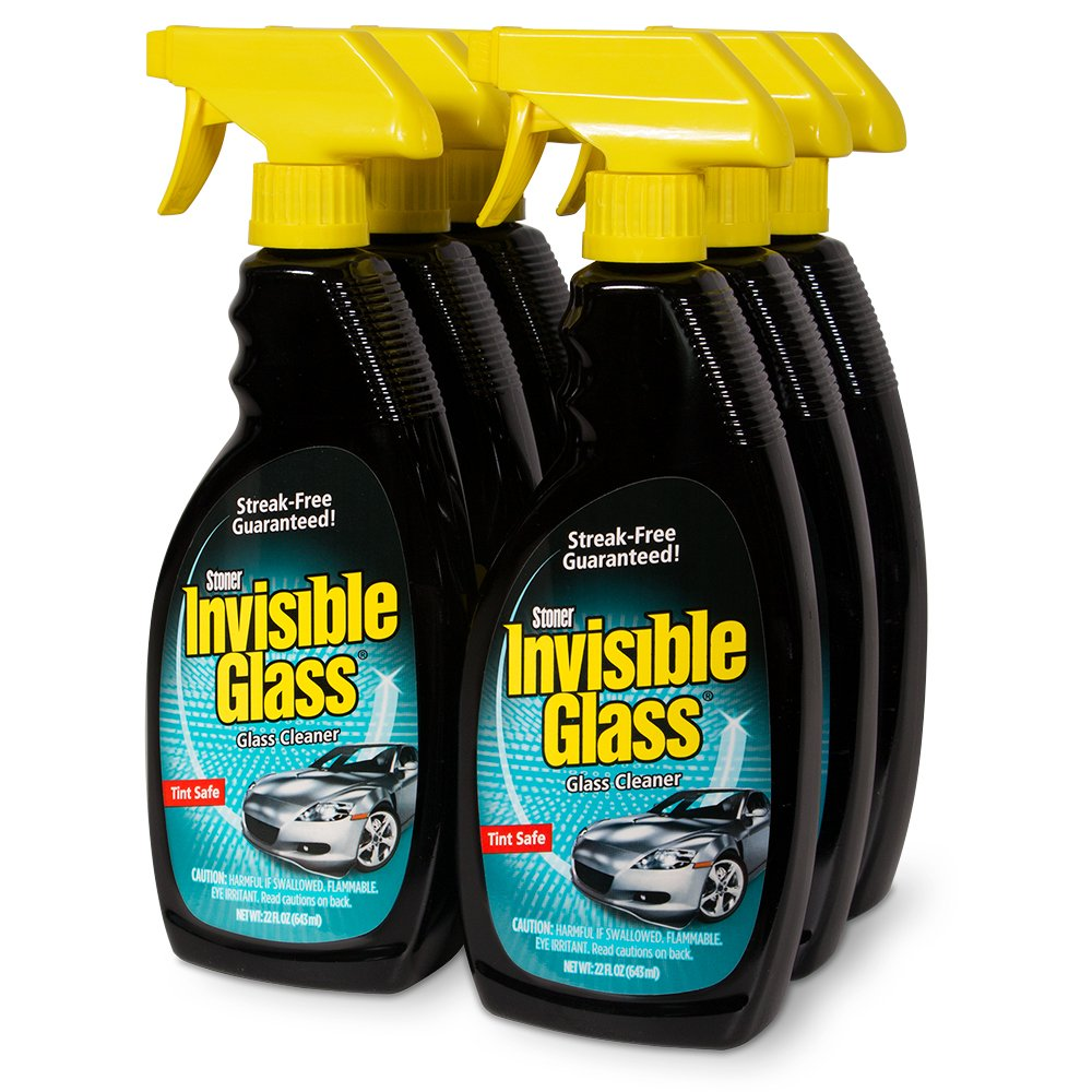 Stoner Invisible Glass 92166-6PK Premium Glass Cleaner, 22 fl. oz, Pack of 6