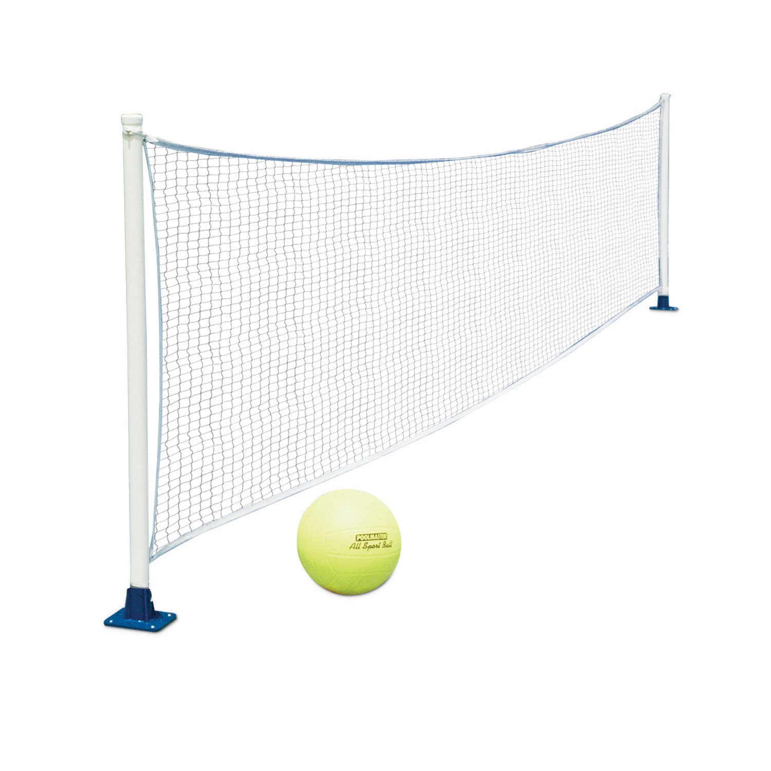 Poolmaster 72776 Above-Ground Mounted Poolside Volleyball / Badminton Game with Perma-Top Mounts by Poolmaster