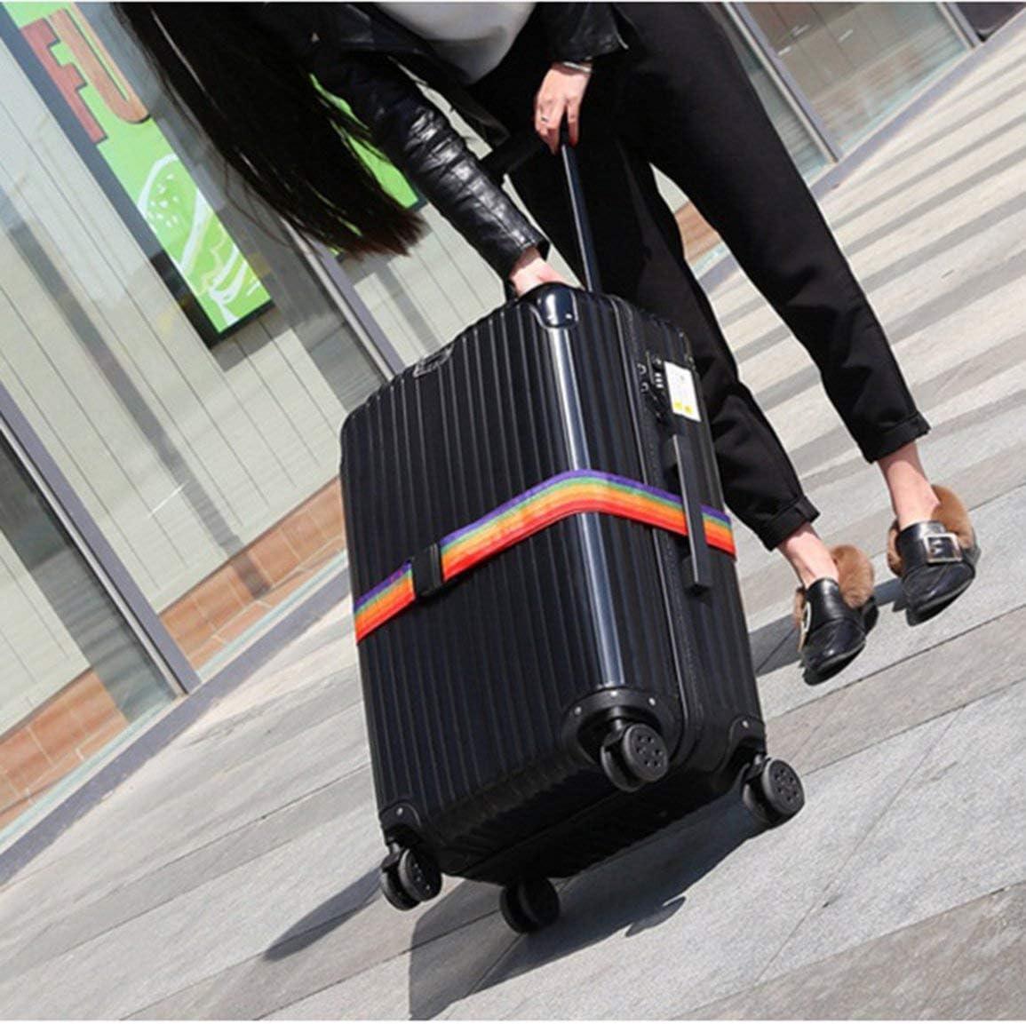 Garciadia Praktische tragbare Gr/ö/ße Outdoor-Reise-Gep/äckgurt Packgurt Koffer Binden Sicherheit Sicherheitsgurt Farbe: bunt